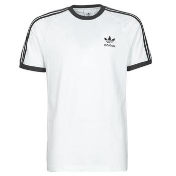 textil Herr T-shirts adidas Originals 3-STRIPES TEE Vit