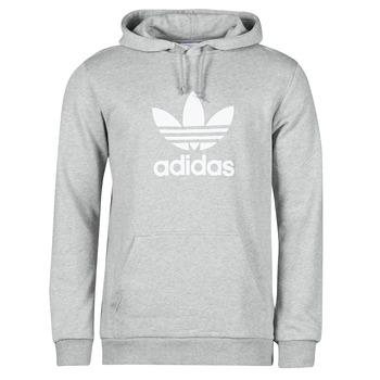 textil Herr Sweatshirts adidas Originals TREFOIL HOODIE Grå