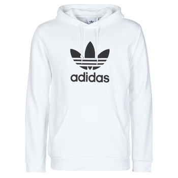 textil Herr Sweatshirts adidas Originals TREFOIL HOODIE Vit