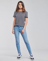 textil Dam Skinny Jeans Lee SCARLETT Blå