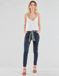 textil Dam Chinos / Carrot jeans Le Temps des Cerises LIDY Blå