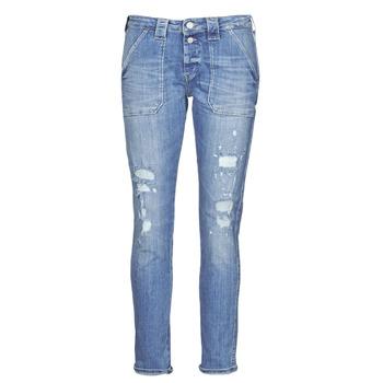 textil Dam Jeans boyfriend Le Temps des Cerises CARA Blå