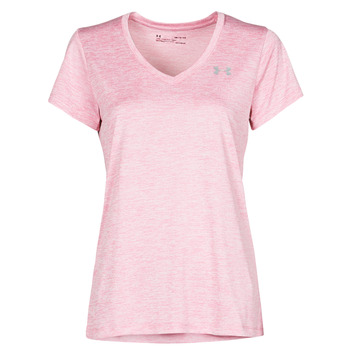 textil Dam T-shirts Under Armour TECH SSV Rosa / Ljus