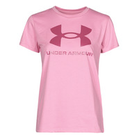 textil Dam T-shirts Under Armour LIVE SPORTSTYLE GRAPHIC SSC Rosa