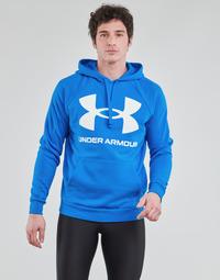 textil Herr Sweatshirts Under Armour UA RIVAL FLEECE BIG LOGO HD Blå