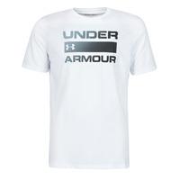 textil Herr T-shirts Under Armour UA TEAM ISSUE WORDMARK SS Vit