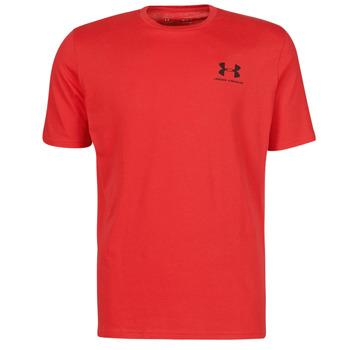 textil Herr T-shirts Under Armour UA SPORTSTYLE LC SS Röd