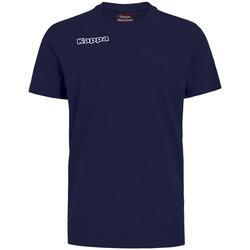 textil Pojkar T-shirts & Pikétröjor Kappa T-shirt enfant  Tee bleu royal