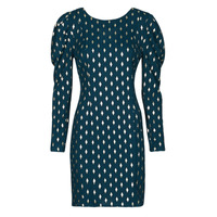textil Dam Korta klänningar Naf Naf HERMIONE R1 Marin / Guldfärgad