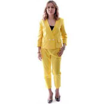 textil Dam Kostymer Fracomina FR20SP090 Gul