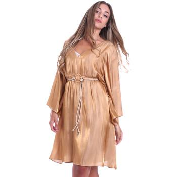 textil Dam Korta klänningar Fracomina FR20SMELISABETH Guld