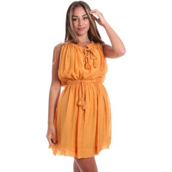 textil Dam Korta klänningar Fracomina FR20SMANA Gul