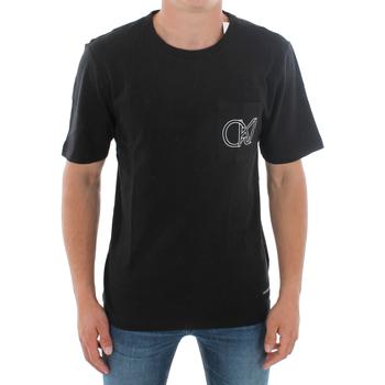 textil Herr T-shirts Calvin Klein Jeans J30J309612 099 BLACK Negro