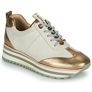 Skor Dam Sneakers JB Martin 4CANDIO Banc / Guldfärgad