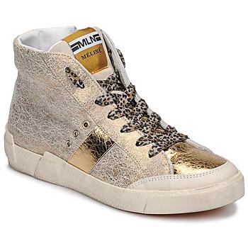 Skor Dam Höga sneakers Meline NK1384 Guldfärgad