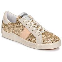 Skor Dam Sneakers Meline NKC1381 Guldfärgad