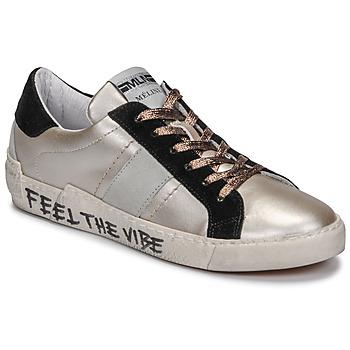 Skor Dam Sneakers Meline NK1382 Brons / Svart