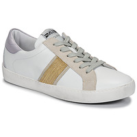 Skor Dam Sneakers Meline KUC1414 Vit / Guldfärgad