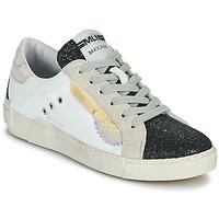 Skor Dam Sneakers Meline NKC139 Vit / Glitter / Svart
