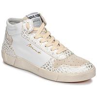 Skor Dam Höga sneakers Meline NK1409 Vit / Krokodil