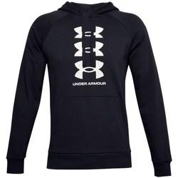 textil Herr Sweatshirts Under Armour Rivial Fleece Svarta
