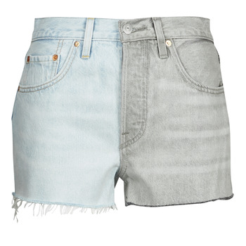 textil Dam Shorts / Bermudas Levi's ICE BLOCK Blå / Grå