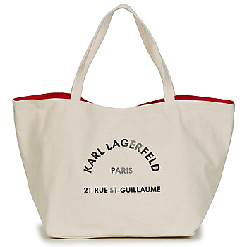 Väskor Dam Shoppingväskor Karl Lagerfeld RUE ST GUILLAUE CANVAS TOTE Benvit