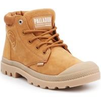 Skor Dam Höga sneakers Palladium Manufacture Pampa LO Cuff LEA 95561-717-M brown