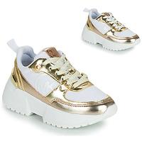 Skor Flickor Sneakers MICHAEL Michael Kors COSMO SPORT Vit / Guldfärgad