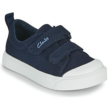 Skor Barn Sneakers Clarks CITY BRIGHT T Marin
