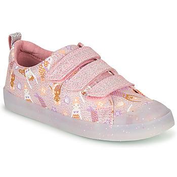 Skor Flickor Sneakers Clarks FOXING PRINT T Rosa
