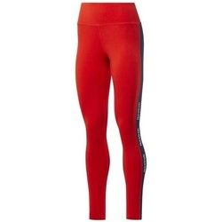 textil Dam Leggings Reebok Sport TE Linear Logo CT L Röda