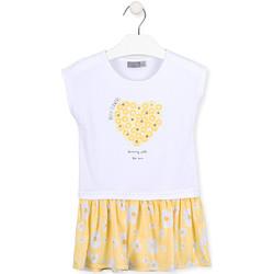 textil Flickor Korta klänningar Losan 016-7021AL Vit
