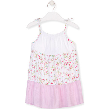textil Flickor Korta klänningar Losan 016-7030AL Vit