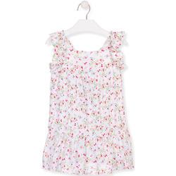 textil Flickor Korta klänningar Losan 016-7031AL Vit