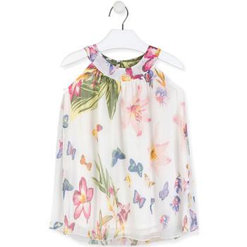 textil Flickor Korta klänningar Losan 016-7793AL Vit