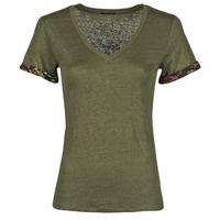 textil Dam T-shirts Ikks BS10255-56 Kaki