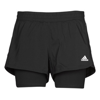 textil Dam Shorts / Bermudas adidas Performance PACER 3S 2 IN 1 Svart