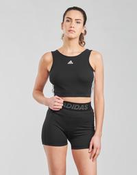 textil Dam Sport-BH adidas Performance W 3S CRO Svart