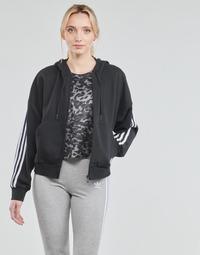 textil Dam Sweatjackets adidas Performance W 3S FZ HD Svart