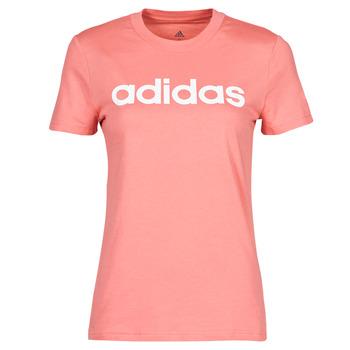 textil Dam T-shirts adidas Performance W LIN T Rosa