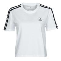 textil Dam T-shirts adidas Performance W 3S CRO T Vit
