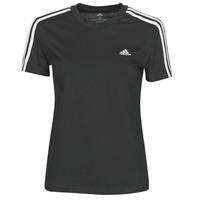 textil Dam T-shirts adidas Performance W 3S T Svart