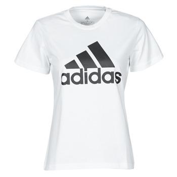 textil Dam T-shirts adidas Performance W BL T Vit