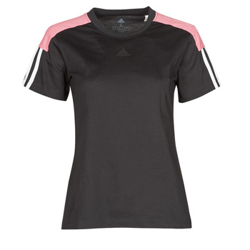 textil Dam T-shirts adidas Performance W CB LIN T Svart