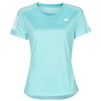 textil Dam T-shirts adidas Performance OWN THE RUN TEE Blå