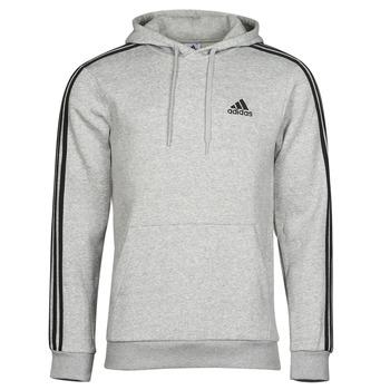 textil Herr Sweatshirts adidas Performance M 3S FL HD Grå
