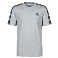 textil Herr T-shirts adidas Performance M 3S SJ T Grå