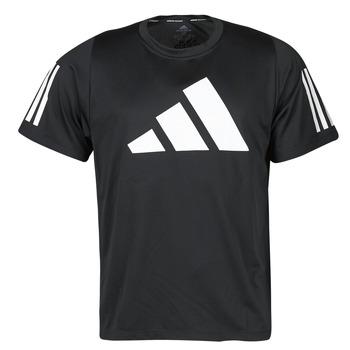 textil Herr T-shirts adidas Performance FL 3 BAR TEE Svart