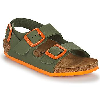 Skor Pojkar Sandaler Birkenstock MILANO Kaki / Orange